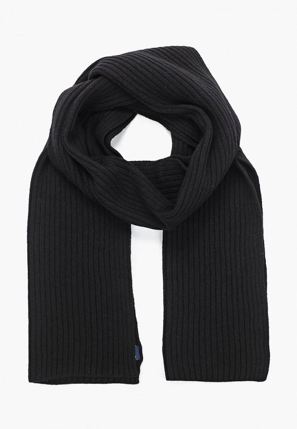 мужской шарф gant, черный