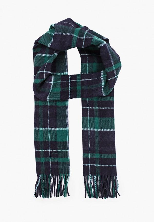 мужской шарф gant, синий