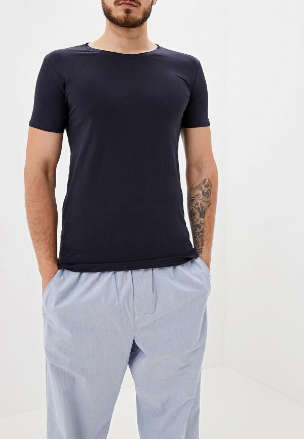 мужская футболка с коротким рукавом gas, синяя