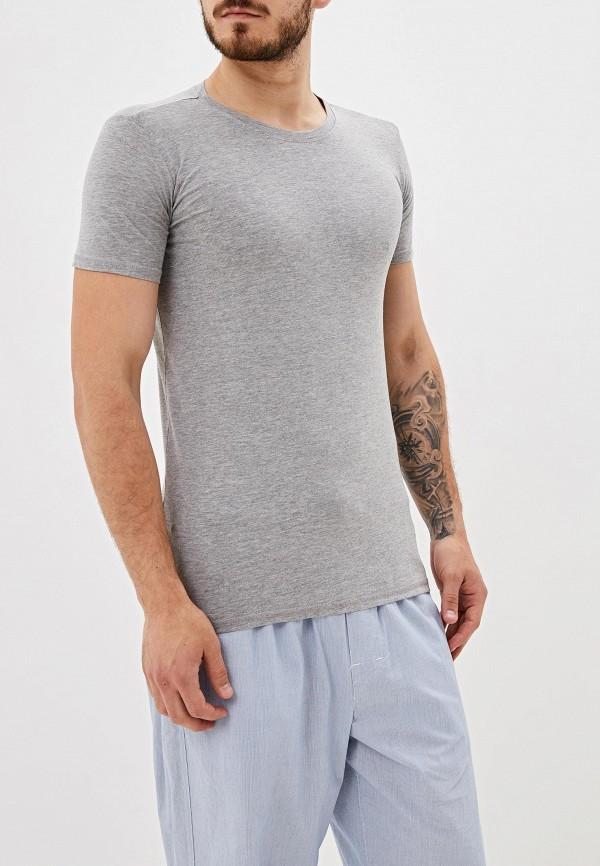 мужская футболка gas, серая