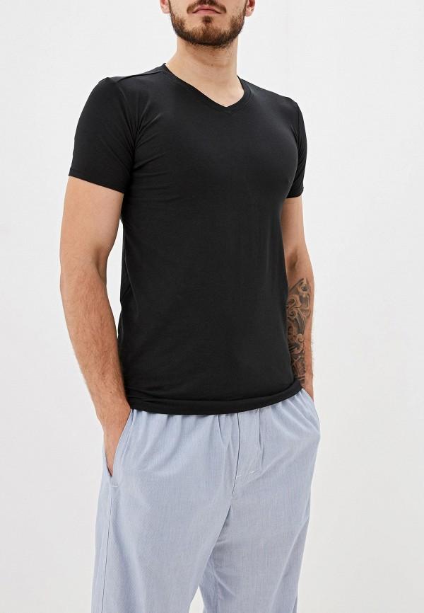 мужская футболка с коротким рукавом gas, черная