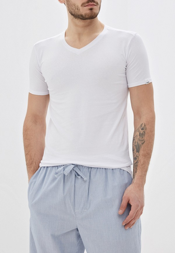 мужская футболка с коротким рукавом gas, белая