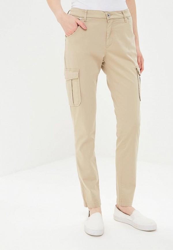 женские зауженные брюки gas, бежевые