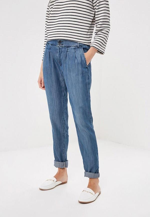 женские зауженные брюки gas, синие