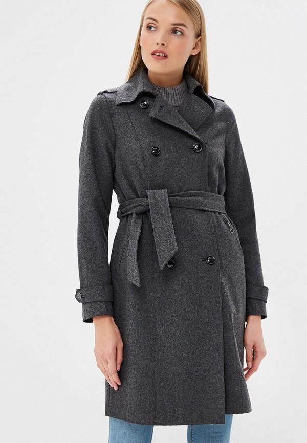 женское пальто gas, серое
