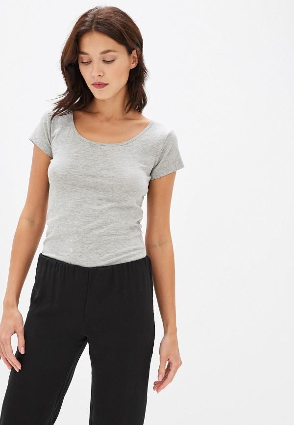 женская футболка gas, серая