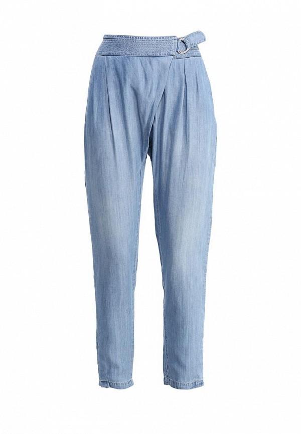 женские зауженные брюки gas, голубые