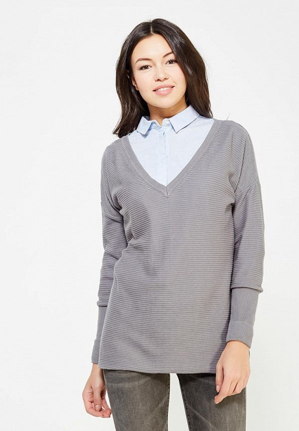 женский пуловер gas, серый