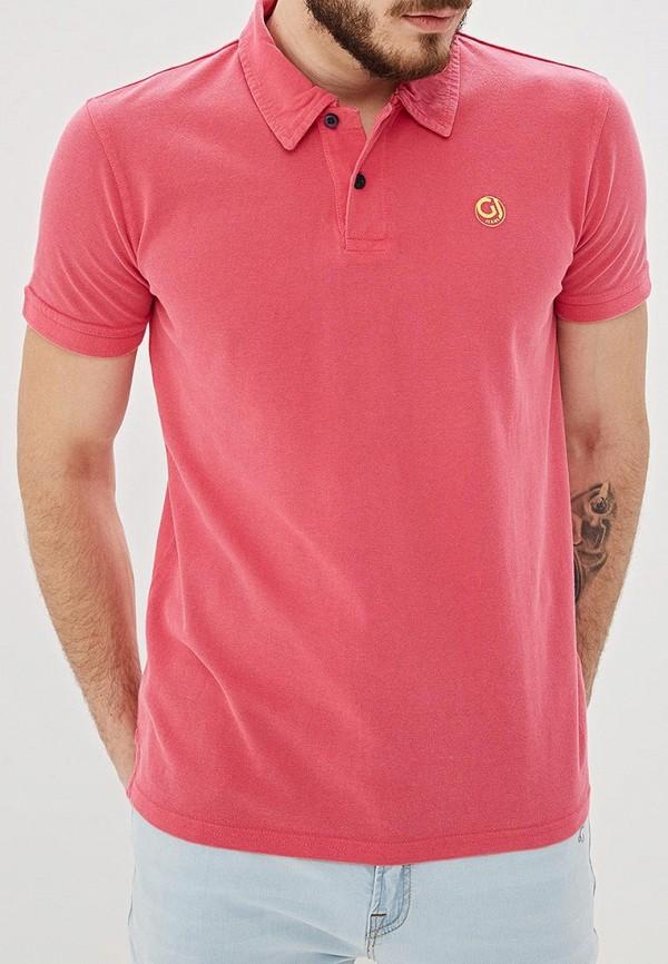 мужское поло gaudi, розовое
