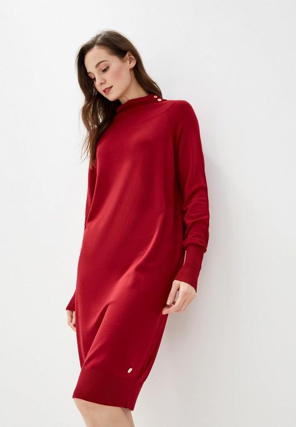 женское повседневные платье gaudi, бордовое
