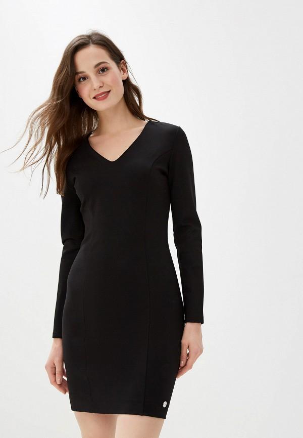 женское платье-футляр gaudi, черное