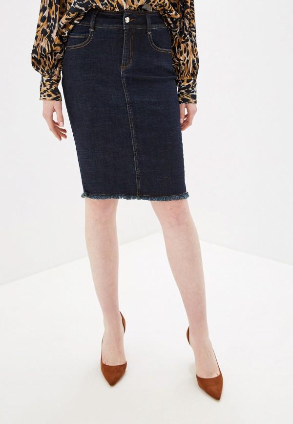 женская джинсовые юбка gaudi, синяя