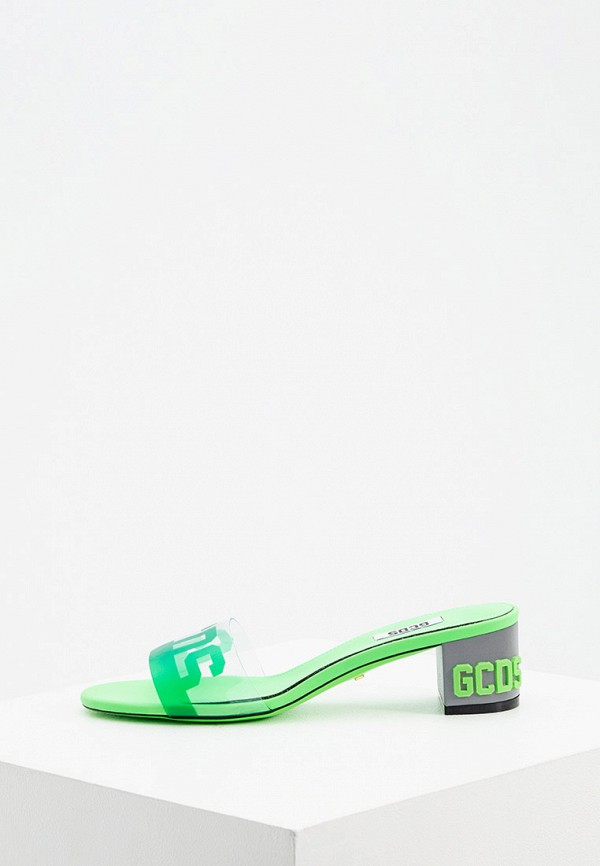 женское сабо gcds, зеленое