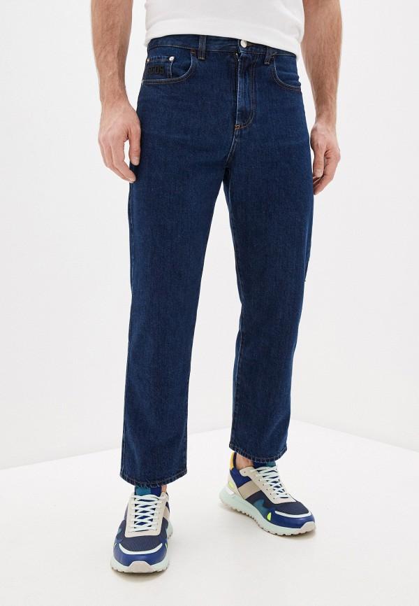 мужские прямые джинсы gcds, синие