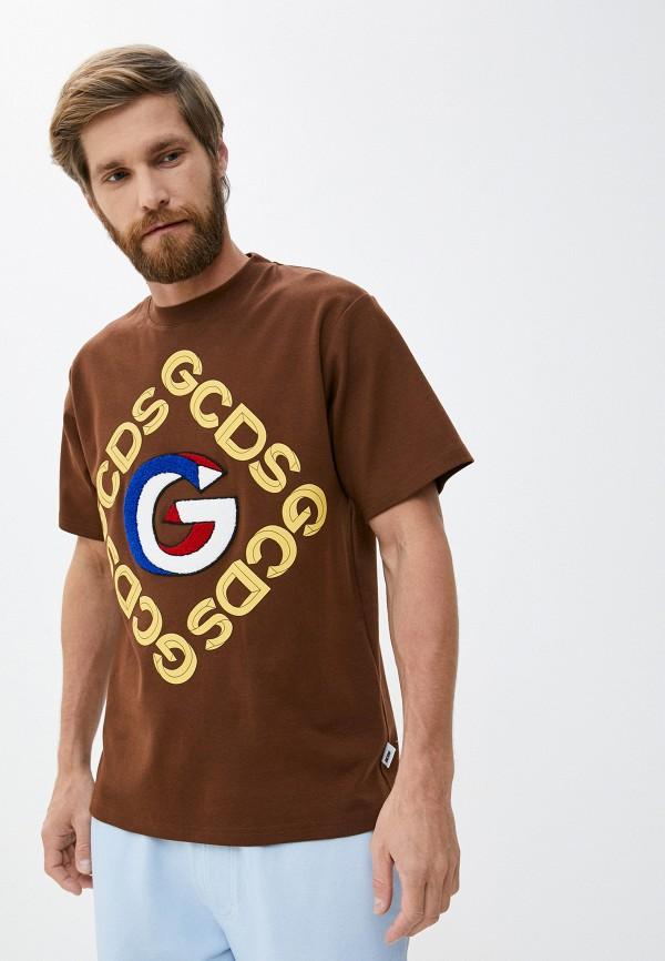 мужская футболка gcds, коричневая