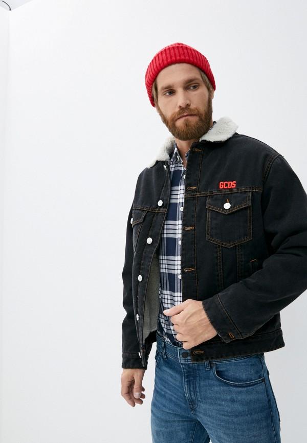 мужская джинсовые куртка gcds, черная