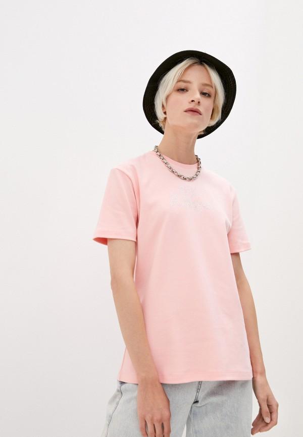 женская футболка gcds, розовая