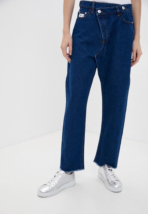 женские джинсы бойфренд gcds, синие