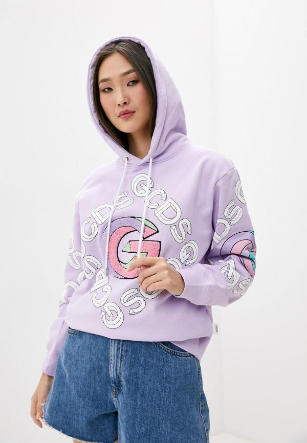 женские худи gcds, фиолетовые
