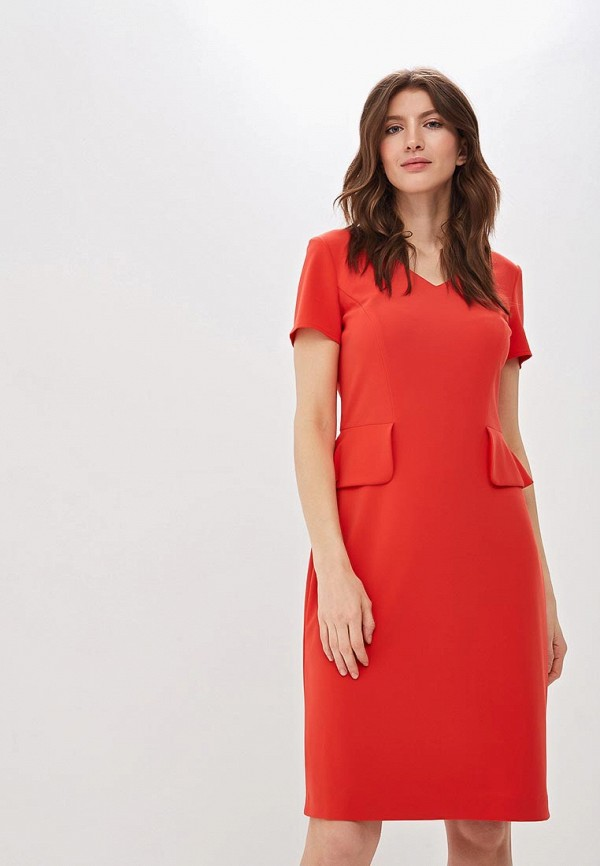 женское платье-футляр gerry weber, красное