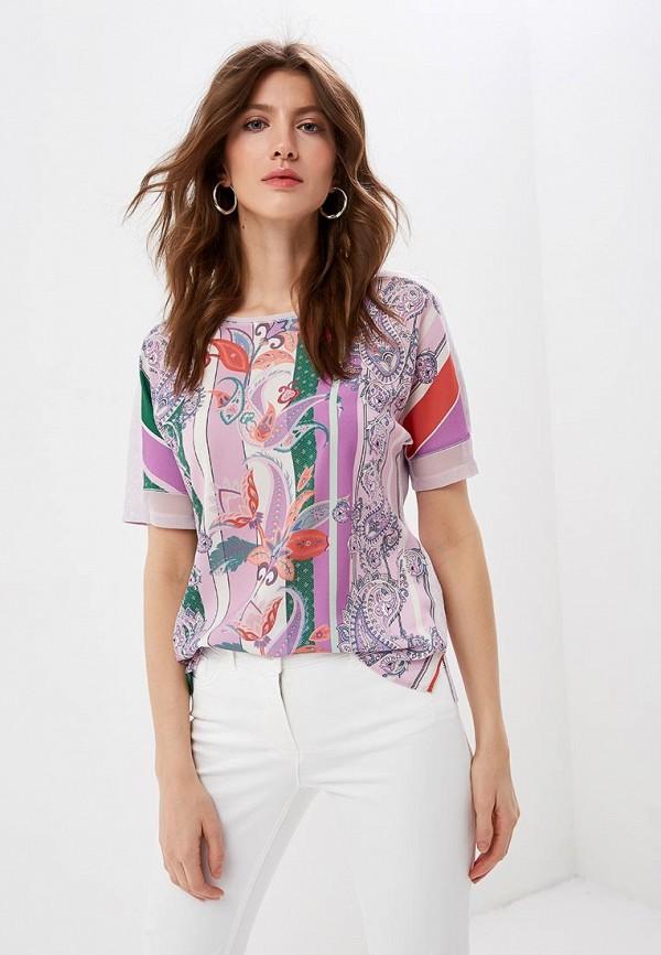 женская футболка gerry weber, фиолетовая
