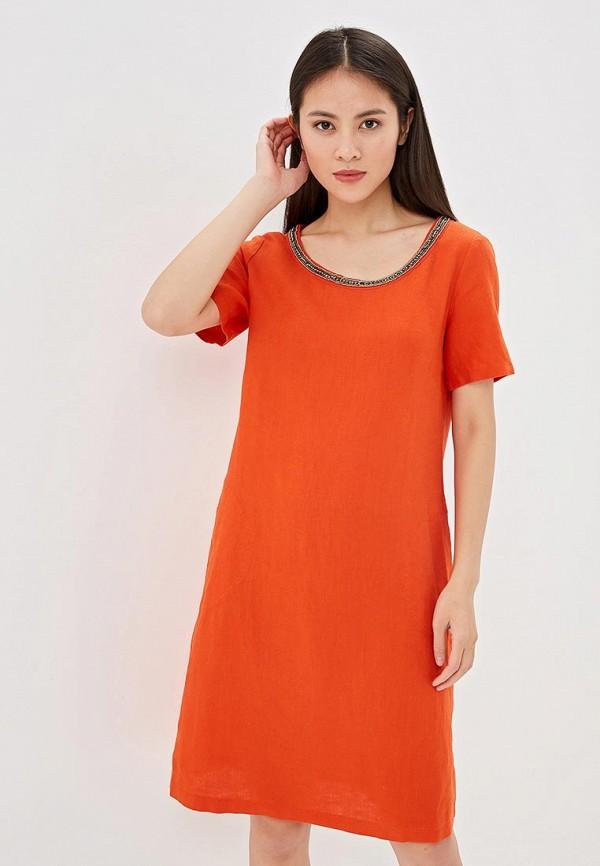 женское повседневные платье gerry weber, оранжевое