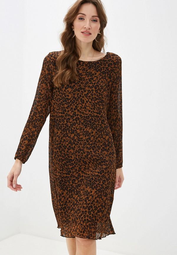 женское платье миди gerry weber, коричневое
