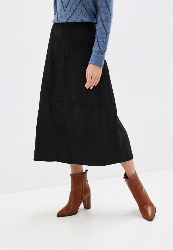 женская юбка миди gerry weber, черная