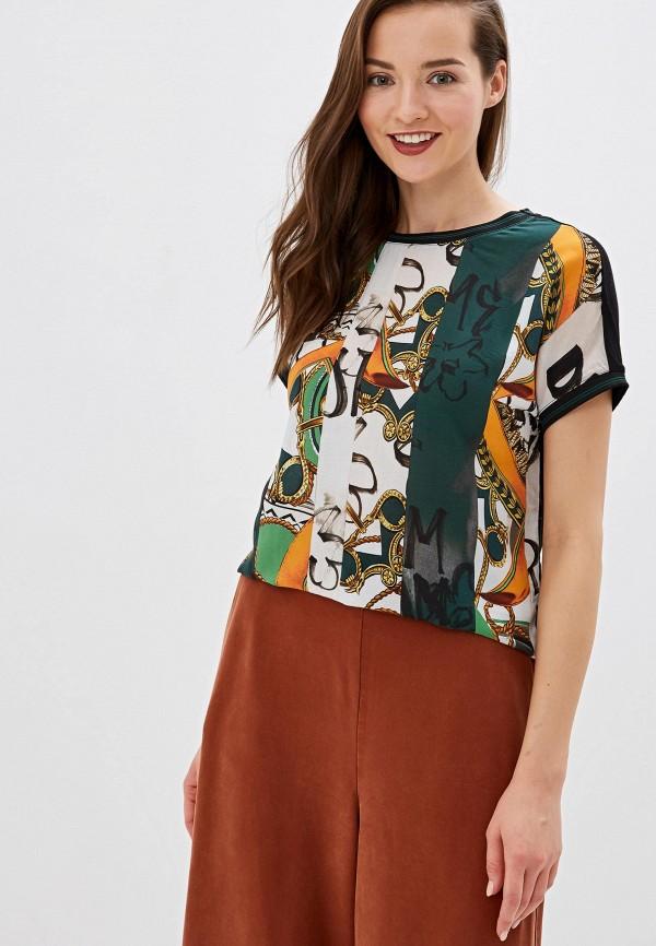 женская блузка с коротким рукавом gerry weber, разноцветная