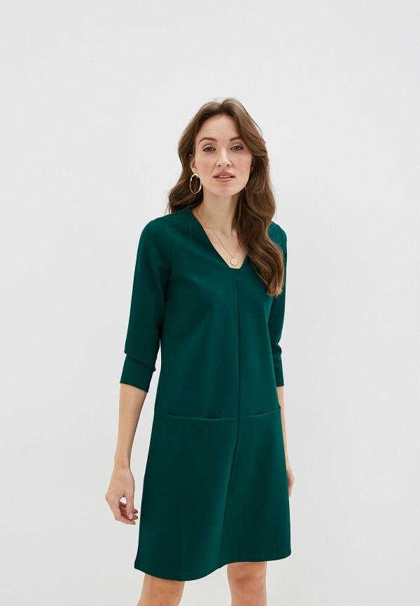 женское платье миди gerry weber, зеленое