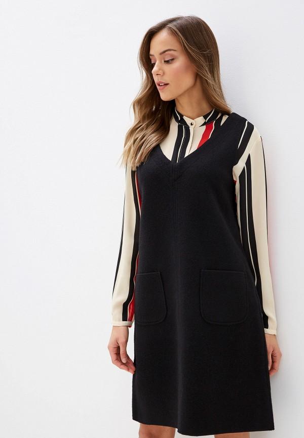 женское платье миди gerry weber, черное