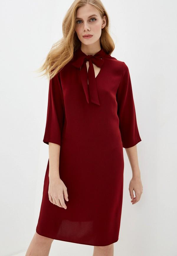 женское платье миди gerry weber, бордовое