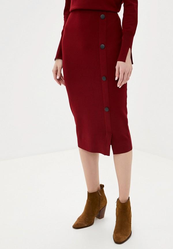 женская зауженные юбка gerry weber, бордовая