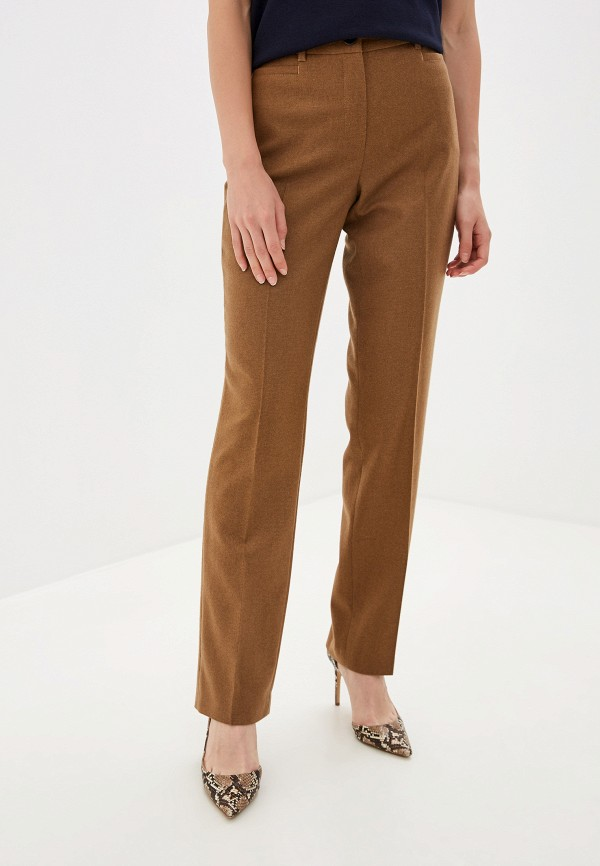 женские повседневные брюки gerry weber, коричневые