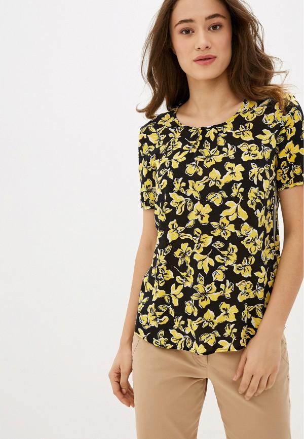 женская блузка с коротким рукавом gerry weber, черная