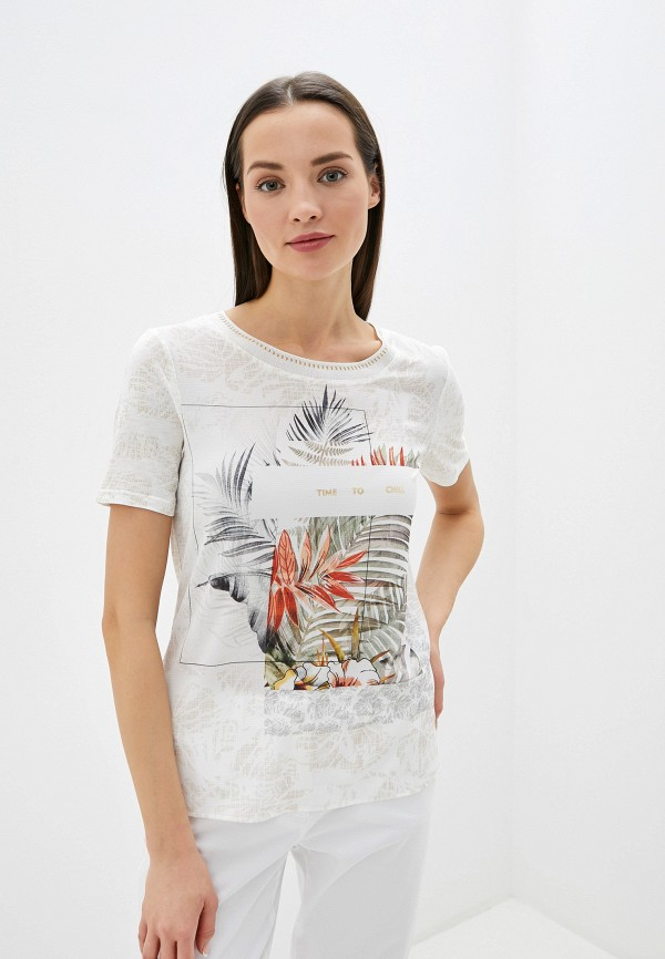 женская футболка gerry weber, бежевая
