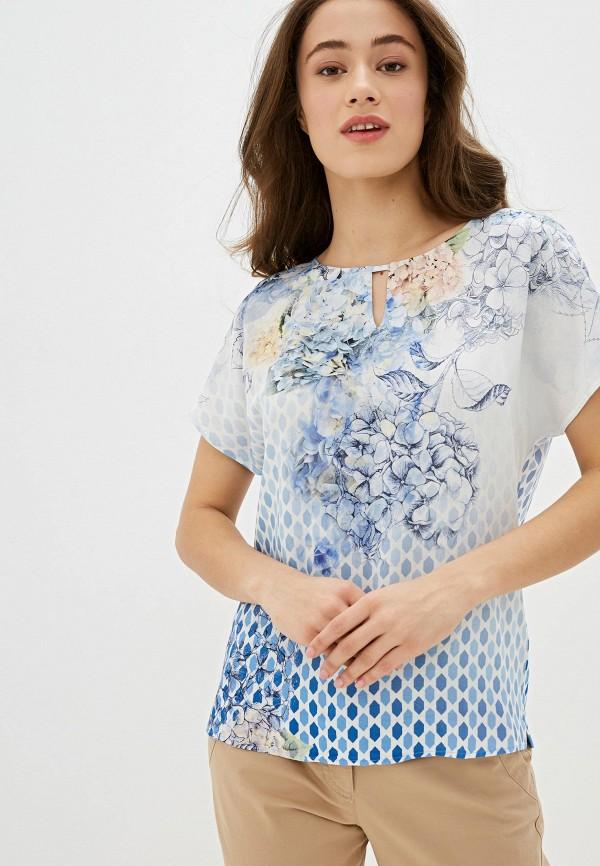 женская блузка с коротким рукавом gerry weber, голубая