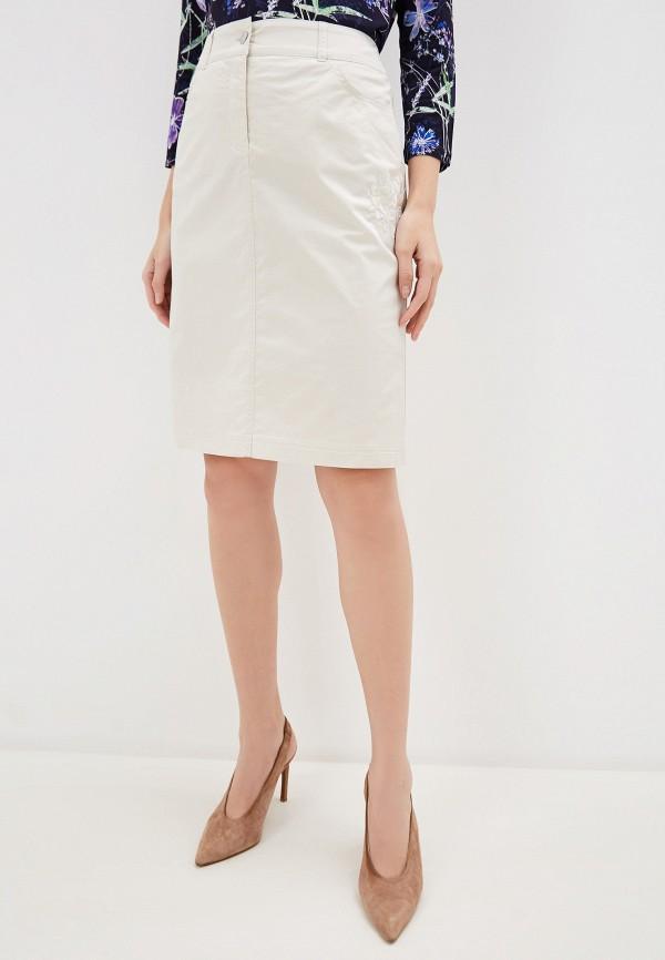 женская прямые юбка gerry weber, бежевая