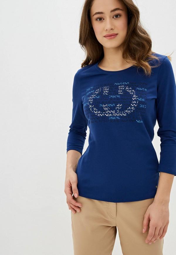 женский лонгслив gerry weber, синий
