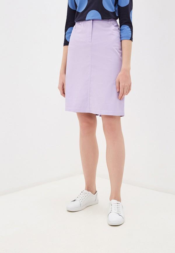 женская прямые юбка gerry weber, фиолетовая
