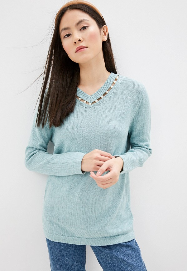 женский пуловер gerry weber, бирюзовый