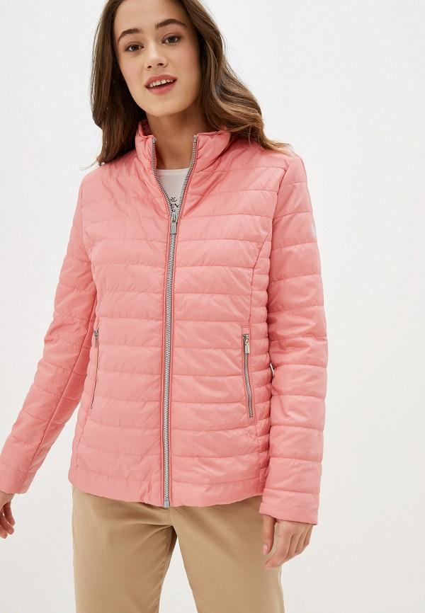 женская утепленные куртка gerry weber, розовая