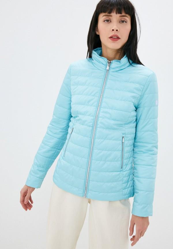 женская утепленные куртка gerry weber, голубая