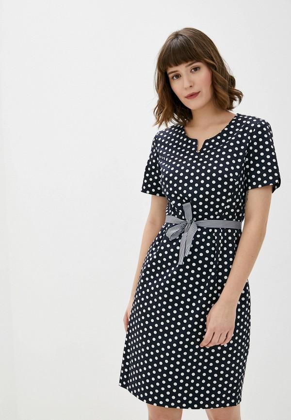 женское платье-футляр gerry weber, синее
