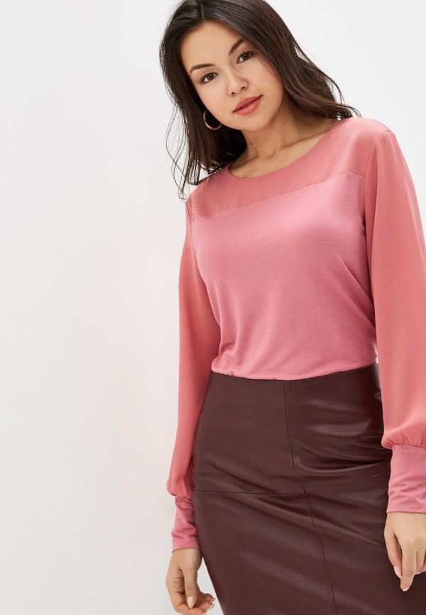 женская блузка с длинным рукавом gerry weber, розовая