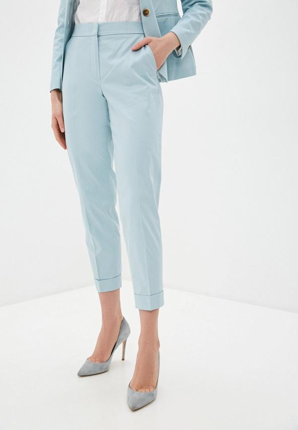 женские классические брюки gerry weber, голубые
