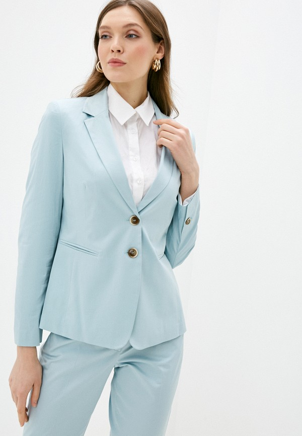 женский пиджак gerry weber, голубой