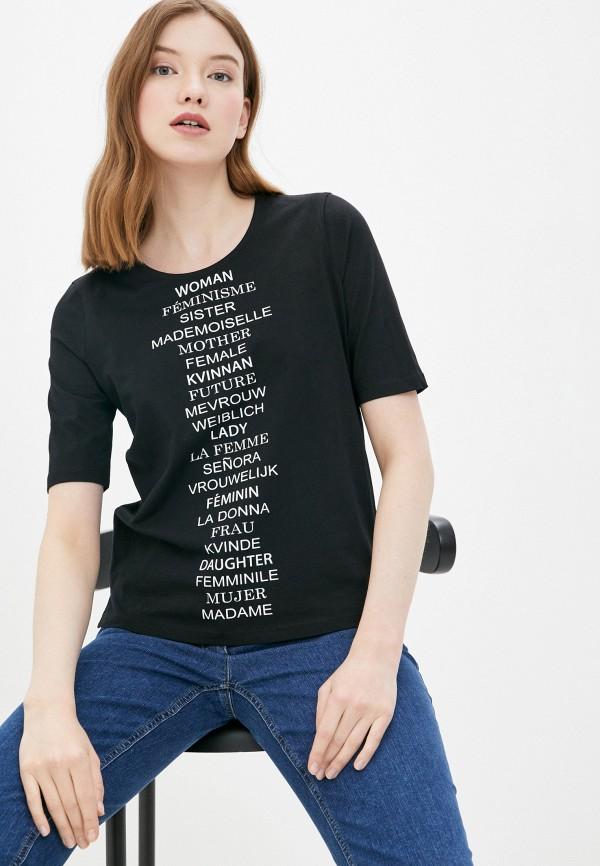женская футболка gerry weber, черная