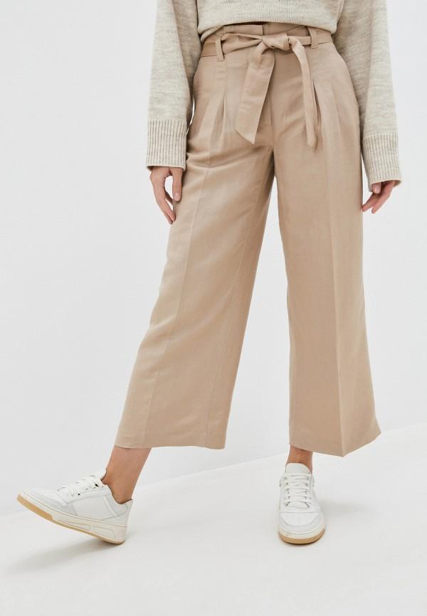 женские прямые брюки gerry weber, бежевые
