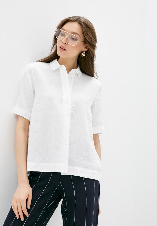 женская рубашка с коротким рукавом gerry weber, белая
